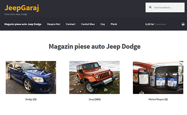 JEEPGARAJ – PIESE AUTO JEEP, DODGE
