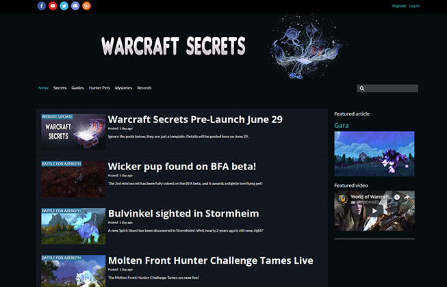 WARCRAFT SECRETS